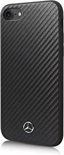 CG Mobile Mercedes Benz PU Leather Case for iPhone 8 and iPhone 7 Hard Cell Phone Cover BlackEasy Snap-on Shock Absorption Cover Officially Licensed.