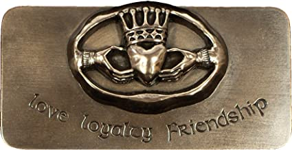 Wild Goose Ireland Wall Decor Claddagh Love Loyalty Friendship Bronze Coated Resin Cast 3 1/2 Inches Tall by 7 1/2 Inches Wide Made in Ireland