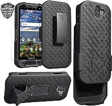 Kyocera DuraForce Pro 2 Case, Ailiber E6910 Holster with Screen Protector, Swivel Belt Clip, Kickstand Holder, Shock Proof Pouch Slim Shell Slide Cover for Verizon Kyocera Dura Force Pro2 - Black