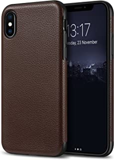 Tasikar Compatible with iPhone Xs Case/iPhone X Case Slim Fit Leather Cover Case Premium Leather and TPU Design Compatible...