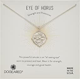 Dogeared Eye of Horus Coin Necklace