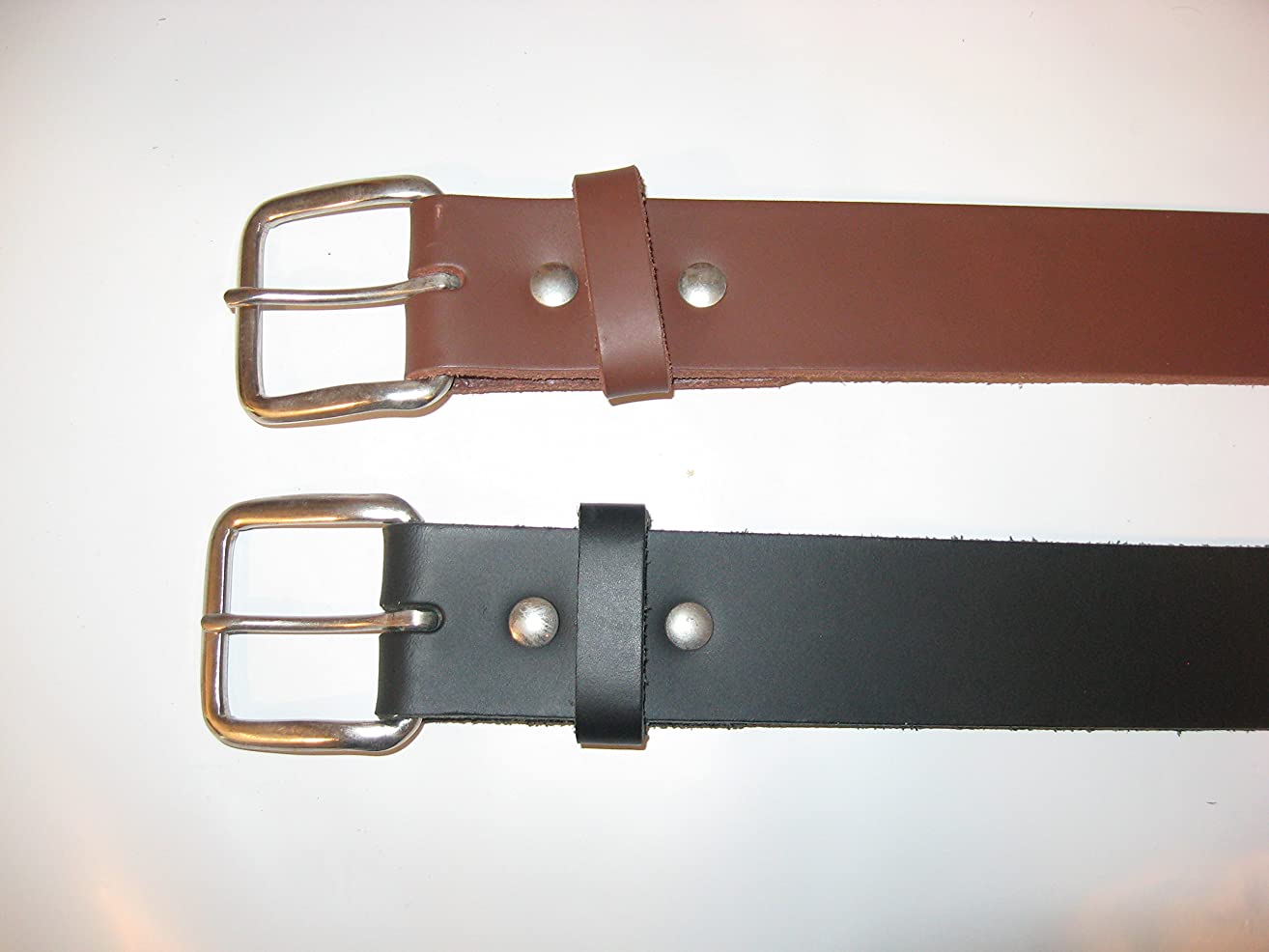 Mens Leather Belts Handmade 1-1/2