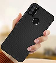 Ankirant Soft Silicon Shockproof Flexible Full Body and Camera Protection Back Case Cover for Samsung Galaxy M30s (2019) (Black Grip)