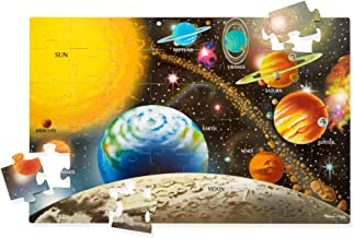 """Melissa & Doug Solar System Floor Puzzle (Floor Puzzles, Easy-Clean Surface, Promotes Hand-Eye Coordination, 48 Pieces, 36"""" L x 24"""" W, Great Gift for Girls and Boys - 3, 4, 5, and 6 Year Olds)"""