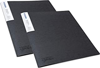 Rapesco 1643 Germ-Savvy™ Antibacterial: A4 Display Book 20 Pocket - Black – 2 Books