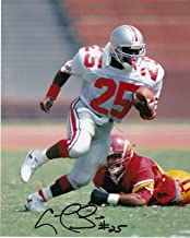 CARLOS SNOW OHIO STATE BUCKEYES ACTION SIGNED 8x10 - Autographed College Photos