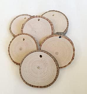 Vintage Wood Slices Medium - drilled 20-2