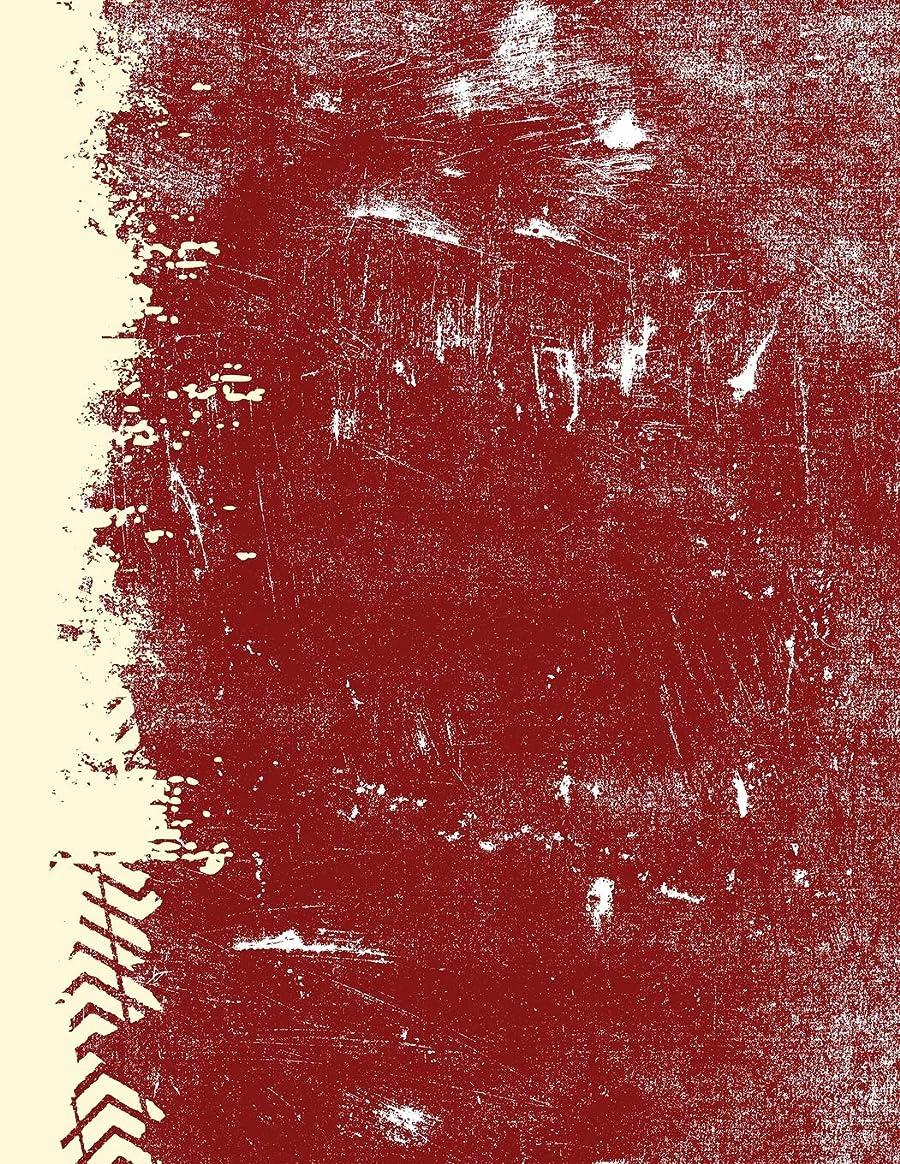 高いスローガン信者Crimson And Cream: (8.5 x 11 Lined) Blank Grunge Team Color Notebook College Ruled