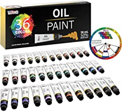 U.S. Art Supply Professional 36 Color Set of Art Oil Paint in Large 18ml Tubes - Rich Vivid Colors for Artists, Students, ...