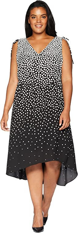 Plus Size Moody Dot High-Low Dress