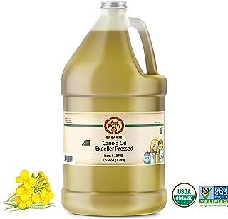 Aunt Patty's Organic Non Gmo Expeller Pressed Canola Oil, 128 Ounce