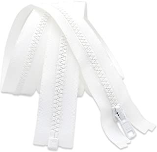 270cm Zipper Long Arm Quilting Machine Zipper YKK 5 Moulded Plastic Separating - White (1 Zipper)