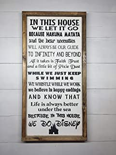 Best in this house we do disney canvas Reviews