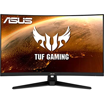 "ASUS TUF Gaming VG32VQ1B 31.5"" Curved Monitor, WQHD (2560 x 1440), 165Hz (Supports 144Hz), 1ms, FreeSync Premium/Adaptive-sync, Extreme Low Motion Blur, HDR10, HDMI DisplayPort"