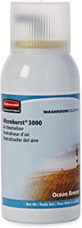 Rubbermaid Commercial Refill for Microburst 3000 Automatic Odor Control System, Ocean Breeze, FG4012581