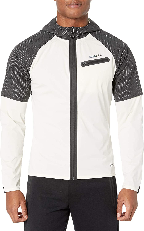 Craft Men's Lumen Hydro Hooded Wind Waterproof Reflective Running Jacket