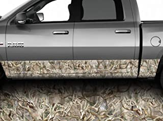 Speed Demon Hot Rod Shop Obliteration Buck Skull Camouflage Rocker Wraps Rocker Panel Graphic Decal Wrap Kit for Trucks and SUVs (Moderate Conformity, 12