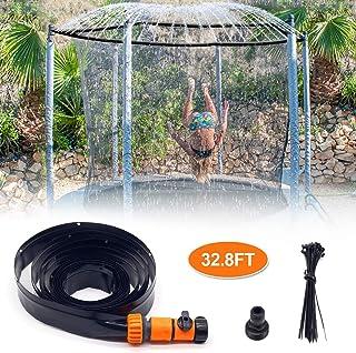 INMUA Trampoline Sprinkler, Outdoor Trampoline Water Sprinklers for Kids Fun Water Park Summer Games Yard Toys Sprinkler Hose(32.8FT, Upgrade)