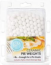 R&M International 2723 Ceramic Pie Weights, 1 lb. with Mesh Storage Bag
