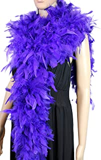 100 Gram 2 Yard Long Chandelle Feather Boa Over 10 Colors, Great for Party, Wedding, Costume (Purple)