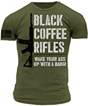 Black Coffee Rifles Start Your Day with a Bang Military Green Premium Athletic Fit T-Shirt