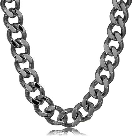 d0f57472edb07 Amazon.ae: crucible-jewelry-mens-black-ip-stainless-steel-cuban-curb ...