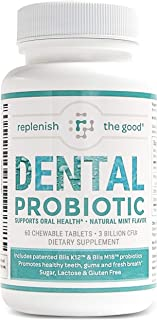 Dental Probiotic 60-Day Supply. Oral probiotics for Bad Breath, Tooth Decay, Strep Throat. Boosts Oral Health and Combats ...