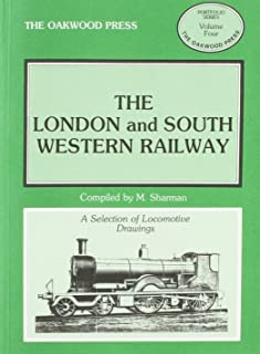 Portfolio: A Selection of 7mm Locomotive Drawings: The London and South Western Railway (Portfolio Series)