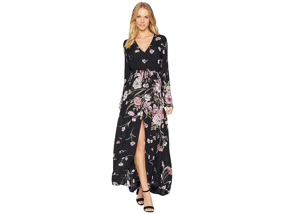 Billabong Desi Kimono Dress (Black Floral) Women