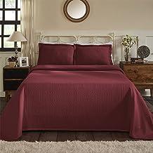 Superior 100% Cotton Medallion Bedspread with Sham, All-Season Premium Cotton Matelassé Jacquard Bedding, Quilted-look Flo...