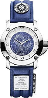 Underground Toys Doctor Who Tardis Collector's Analog Watch, White & Blue