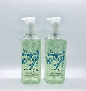 Bath and Body Works Eucalyptus Mint Deep Cleansing Hand Soap - Pair of 2 Hand Soaps - 8 Ounces each
