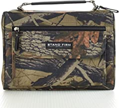 """Mossy Oak Camo Poly-Canvas Bible / Book Cover w/""""Stand Firm"""" Tag - 1 Corinthians 16:13 (Medium)"""
