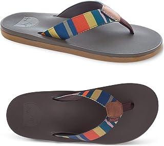 Men's Scott Hawaii Eleu Sandal | Woven Earth Rainbow Sandals | No-Slip Custom Grooved Flip-Flops