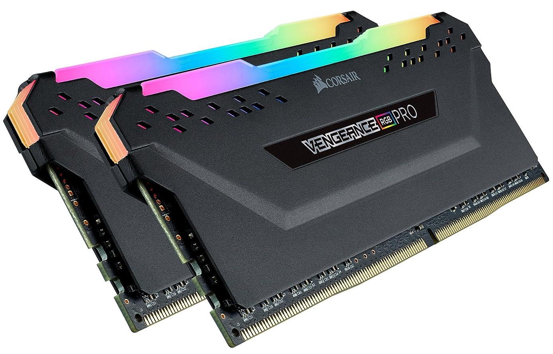 Corsair CMW32GX4M2C3200C16 Vengeance RGB PRO 32GB (2x16GB) DDR4 3200 (PC4-25600) C16 Desktop Memory Black