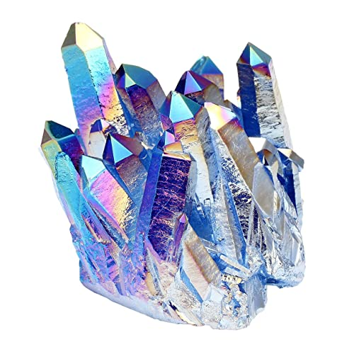 Coffret Cadeau Jovivi Pierre dEnergie Precieuse Irregulier Quartz Cluster Cristal Geode Druse Specimen Galvanoplastie Maison Decoration Bibelot