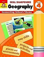 Evan-Moor Skill Sharpeners: Geography, Grade 4 Activity Book - Supplemental At-Home Resource Geography Skills Workbook