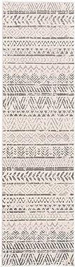 Rugshop Geometric Bohemian Design Runner Rug 2' x 10' Gray