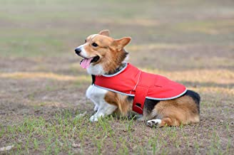 Comfortland Dog Raincoat Adjustable Pet Water Proof Clothes Lightweight Rain Jacket Poncho Winter Dog Vest Dog Rain Gear with Strip Reflective for Small Medium Large Dogs