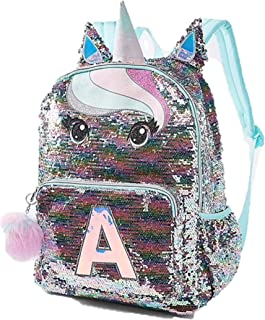 sequin backpack initial