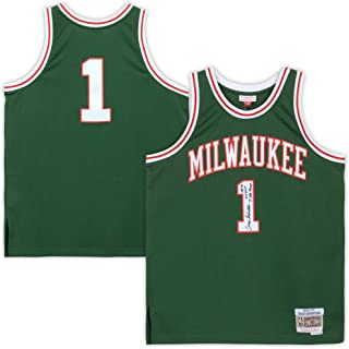 Oscar Robertson Milwaukee Bucks Autographed Mitchell & Ness Green Replica Jersey with Multiple Inscriptions - Limited Edition #10 of 10 - Fanatics Authentic Certified