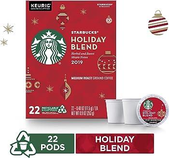Starbucks Holiday Blend Medium Roast Coffee Single-Cup Coffee
