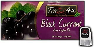 Black Currant Black Tea - 25 Tea Bags   Flavoured Black Tea   Fruity Tea   Ceylon Tea   Natural & Pure & Unique Quality, From Sri Lanka   Tea by Anverally