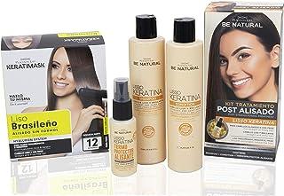 Be Natural Pack de Alisado Profesional Brasileño + Pack Postalisado Lisso Keratina Blanco