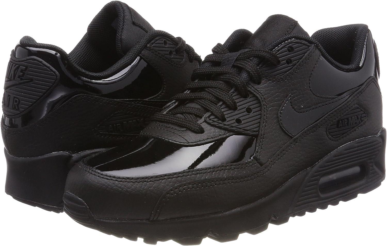 Nike Wmns Air Max 90 Leather, Scarpe da Ginnastica Donna, Nero ...