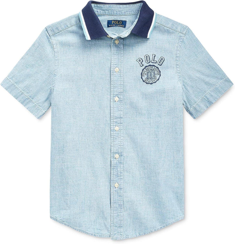 Polo Ralph Lauren Boy's Hybrid Chambray Graphic Shirt