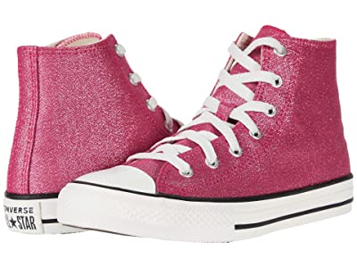 Converse Kids Chuck Taylor(r) All Star(r) Summer Sparkle Hi (Little Kid/Big Kid) (Cerise Pink/Natural Ivory/Vintage) Girl