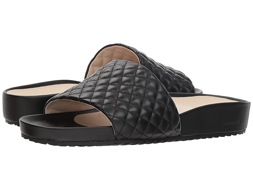 Cole Haan G.OS Pinch Montauk Slide (Black Quilted Leather) Women