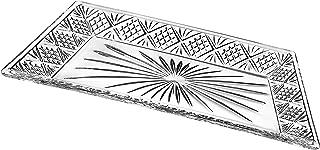 Godinger Dublin Rectangular Crystal Tray, 12 Inch x 6.5 Inch