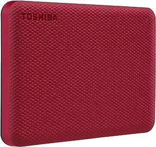 Toshiba Canvio Advance 2TB Portable External Hard Drive USB 3.0, Red - HDTCA20XR3AA